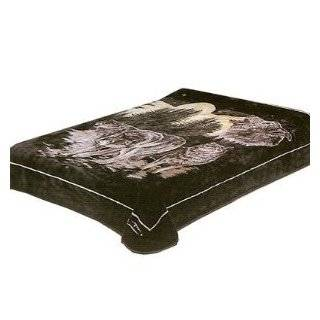 Solaron King Wolf Pack Korean Mink Blanket   King