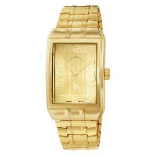 Polo Assn. Mens USC80045 Classic Analogue Gold Dial Expansion Watch