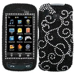 Bling Rhinestone Faceplate Diamond White Clear Crystal Hard Skin