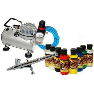 New NAIL ART PAINT STENCIL AIRBRUSH KIT Air Compressor
