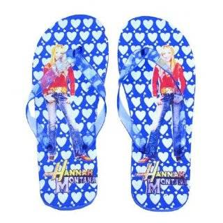 Disney Blue Hannah Montana Girls Flip Flop Beach Home Slippers Sandals