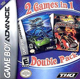 2 Games in 1 Double Pack Hot Wheels Velocity X Hot Wheels World Race Nintendo Game Boy Advance, 2005