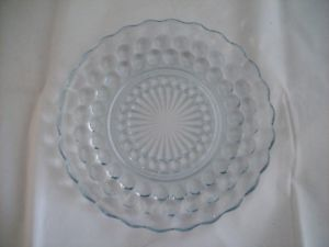 Vintage Anchor Hocking Sapphire Blue Bubble Glass Plate