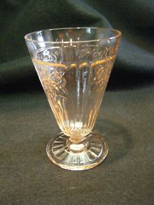 "Antique Pink Depression Glass Mayfair Pattern ""Open Rose"" Anchor Hocking Co"