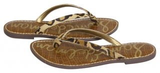 Sam Edelman Gracie New Leopard Thong Flip Flop Sandals Shoes 8 New