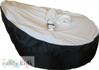 Baby Toddler Kids Portable Bean Bag Seat Snuggle Bed Black Cream