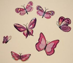 Nursery Child Baby Childrens Kid Girls Bedroom Butterfly Wall Furniture Stickers