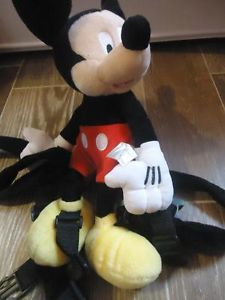 Baby Toddler Kids Safety Harness Lease Mickey Mouse Backpack 2 in 1 Reins Disney