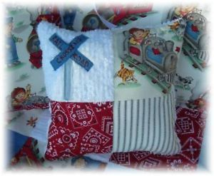Vintage Train Chenille Baby Boy Crib Quilt Bedding Blue
