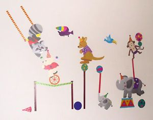 Baby Boy Girl Kid Children Bedroom Circus Wall Stickers