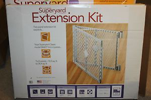 North States Classic Superyard Baby Pet Gate Play Yard Extension Kit 2 Panel