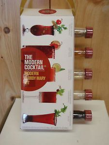 Bloody Mary Kit Mix The Modern Cocktail Gift Set 5 Flavors New