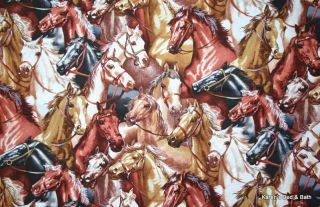 Western Horses Cowboy Cowgirl Horse Old West Theme Boy Girl Curtain Valance New