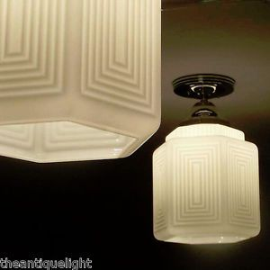 Art Deco Glass Ceiling Lamp Lamp Light Fixture Kitchen Bath Hall Beautiful