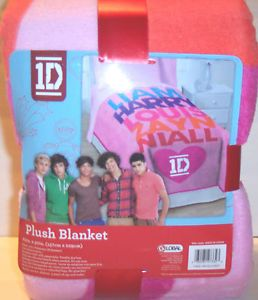 One Direction 1D Twin Plush Blanket British Boy Band Bed Set Comforter