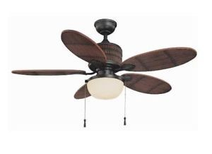 Hampton Bay Tahiti Breeze Indoor Outdoor 52 inch Ceiling Fan with Light Kit Iron