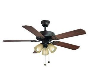 Hampton Bay Brookhurst 52 inch Ceiling Fan with Light Kit Bronze