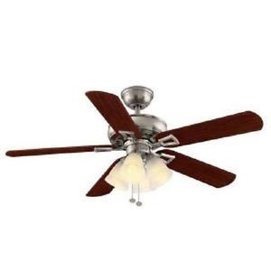 Hampton Bay Lyndhurst 52 in Indoor Brushed Nickel Ceiling Fan