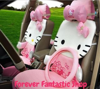Fashion Hello Kitty Auto Car Seat Cover Accessories Set 12pcs 7 Colors