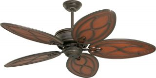 "Tommy Bahama TB311DBZ Copa Breeze Bronze 52"" Ceiling Fan w Wall Control"