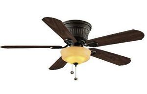 Hampton Bay Lynwood 52 inch Ceiling Fan with Light Kit Bronze