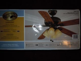 Hampton Bay Lyndhurst 52 in Venetian Bronze Indoor Ceiling Fan