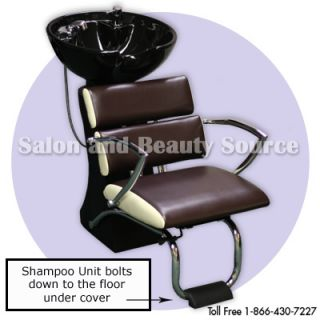 Shampoo Backwash Unit Bowl Chair Salon Equipment