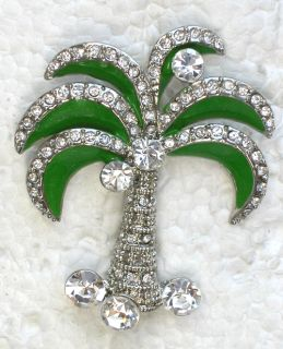 Clear Rhinestone Crystal Brooch Pin