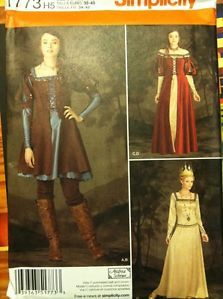 Simplicity Sewing Pattern 1773 Huntress Medieval Costumes Sizes 6 14