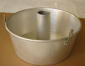 "2 Piece 10"" Mirro Angel Food Cake Pan 5394M Aluminum Bundt Baking Nice"