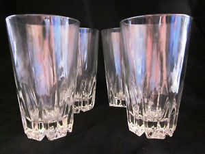 Princess House Regency Highball Crystal Glasses Lot 4 Excellent