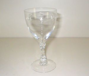 Fostoria Leaf Pattern Crystal Glass Wine Champagne