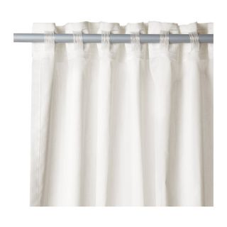 IKEA Pair of White Curtains Light Diffusing Sheer Plain White 3 Meters Long