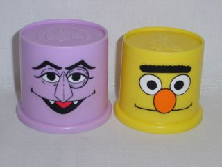 Fisher Price Sesame Street 8 Stack Nest Cups Complete w Box Stacking Nesting