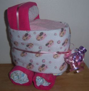 Mickey Mouse Minnie or Pluto Mini Diaper Bassinet Baby Shower Favor