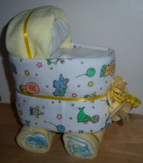Mini Diaper Bassinet Baby Shower Favor Dinosaur Sports Circus