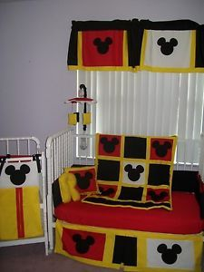 New Mickey Mouse Crib Bedding Set