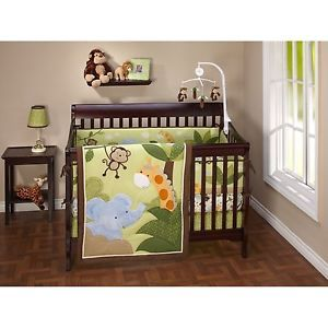 Jungle Time 4 Piece Crib Bedding Set Little Bedding by NoJo