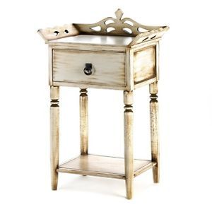 French Paris Flea Market Shabby End Table Night Stand Cottage Distressed Antique