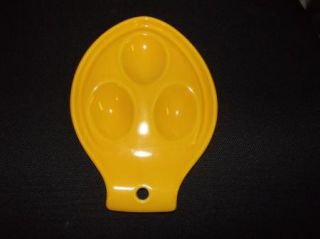 Vintage Homer Laughlin Harlequin RARE Yellow Spoon Rest Fiesta Ware Color