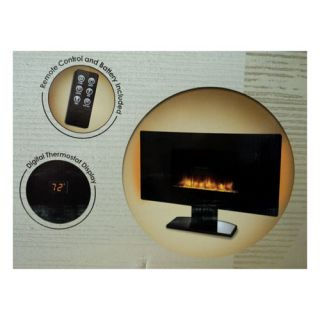 Grand Aspirations Wall Mount Fireplace Heater Electronic Flat Panel 35 inch New