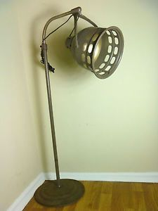 Vintage Industrial Floor Lamp Adjustable Deco Steam Punk Ornate