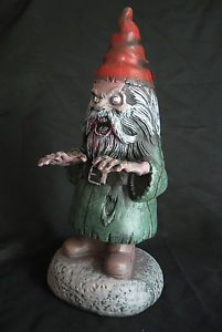 Evil Zombie Horror Garden Gnome Scary Funny Halloween Party Decoration Prop