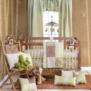 Baby Safari Jungle Leopard Print Giraffe Nursery Neutral 3 P Crib Bedding Set