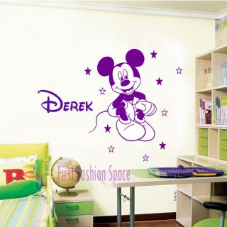 Vinyl Removable Disney Mickey Mouse Star Wall Stickers Decals Mural Kids Nursery