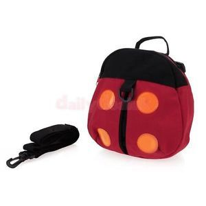 2 in 1 Ladybug Baby Toddler Kids Child Safety Harness Straps Leash Backpack Bag