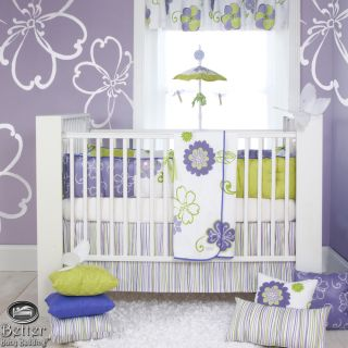 Glenna Jean Baby Girl Purple Tropical Flower Crib Nursery Best Quilt Bedding Set