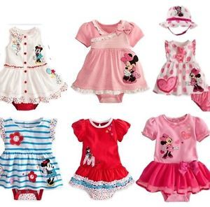 New Disney Baby Girls Clothes Set Top Skirt Dress Nappy Cover with Hat 00 0 1