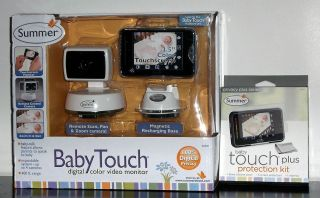 Summer Infant Baby Touch 02000Z Digital Color Video Baby Monitor Bonus Kit