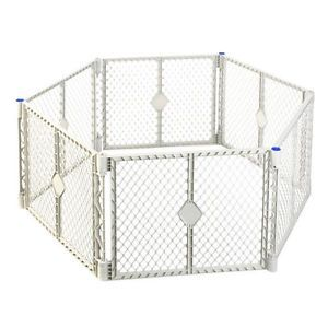 "Portable Indoor Outdoor 6 Panel Safety Pet Dog Baby Toddler Play Gate Fence 26""H"